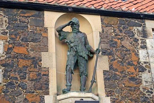 Statue, Alexander Selkirk, Castaway, Lower Largo, Fife
