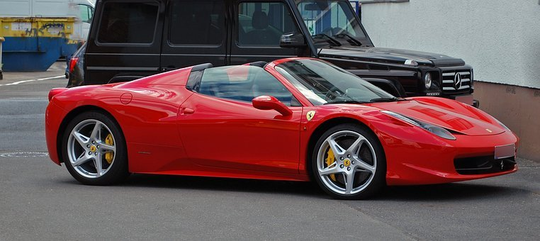 Auto, Ferrari, Roadster, Vehicle, Drive, Performance