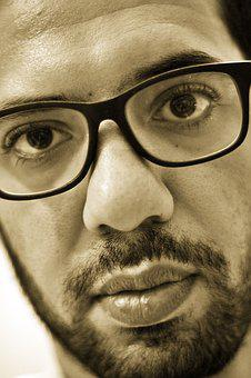 Face, Portrait, Man, People, Young, Glasses, Guy, Beard