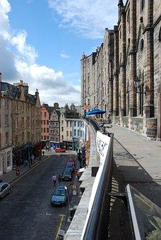 Street, City, Travel, Architecture, Building, Edinburgh