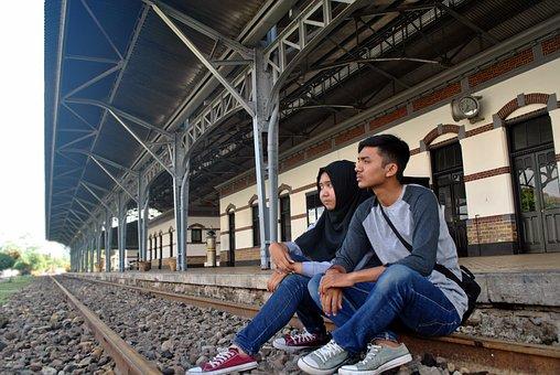 Man, Railway, Urban, Travel, Railroad Track, Business