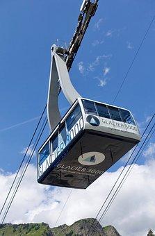 Cable Car, Sky, Alps, Outdoors, Tourism