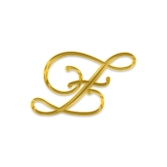 Letter, Litera, Monogram, Golden, Gold, Decorative