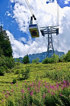 Cable Car, Outdoors, Nature, Sky, Environment