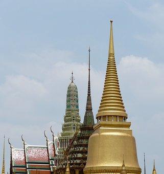 Buddha, Wat, Pagoda, Temple, Stupa, Religion, Golden