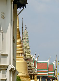 Temple, Buddha, Grand Palace, Gold, Thailand, Buddhism