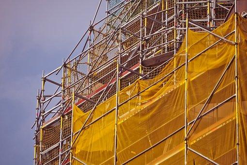 Scaffold, Architecture, Building, High, Church, Facade