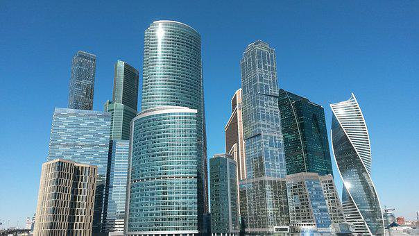 Moscow, Skyscraper, Architecture, High, Megalopolis
