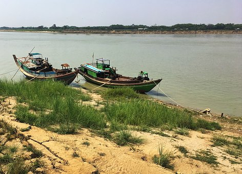 Boat, Water, Sea, Seashore, Travel, Irrawaddy River