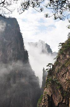 Nature, Mountain, Landscape, Rock, Tourism, Huangshan