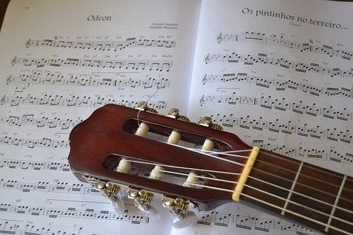 Paper, Sound, Data, Song, Music, Music Sheet, Guitar