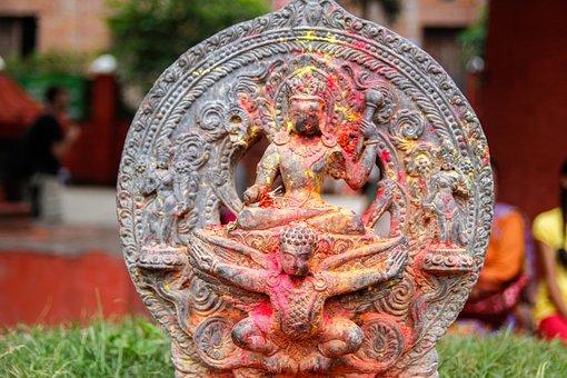 Kathmandu, Nepal, Asia, Religion, Sculpture, Statue