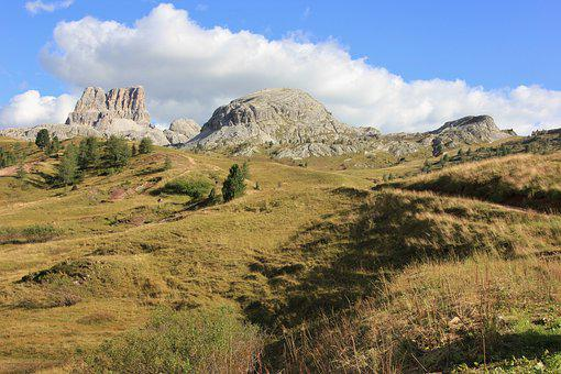 Nature, Landscape, Sky, Mountain, Travel, Grass, Hill