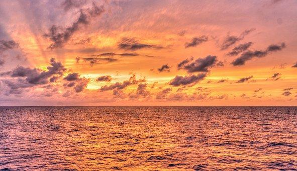 Sunset, Reflection, Nature, Sun, Dawn, Water, Sky