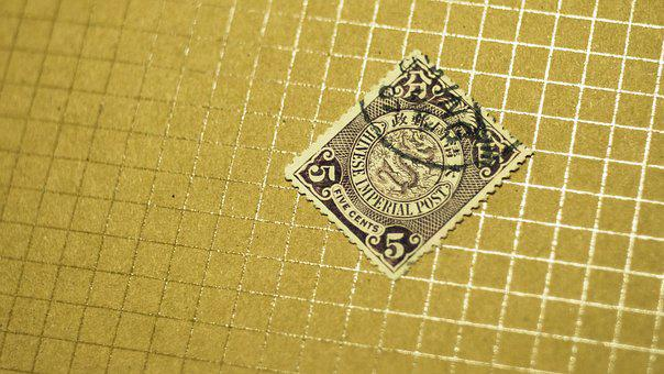 China, Stamps, Stamp, Qing, Old, Paper, Mode