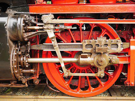 Steam Locomotive, Drive, Steam Engine, Cylinder