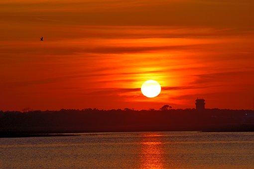 Sunset, Dawn, Dusk, Sun, Water, Evening, Nature, Sky