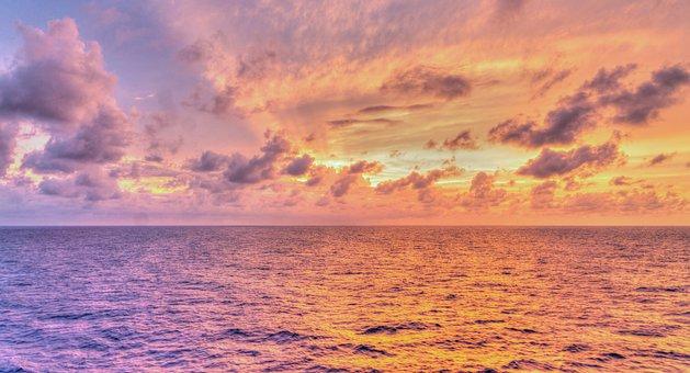 Sunset, Reflections, Sun Rays, Nature, Dawn, Sun, Water