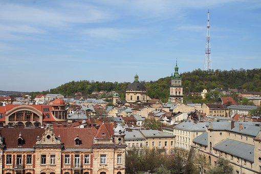 Architecture, Megalopolis, Old Town, Ukraine, Lviv