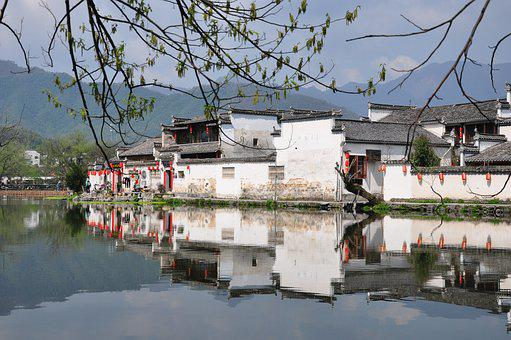 Waters, Tourism, House, Outdoor, Hongcun Village