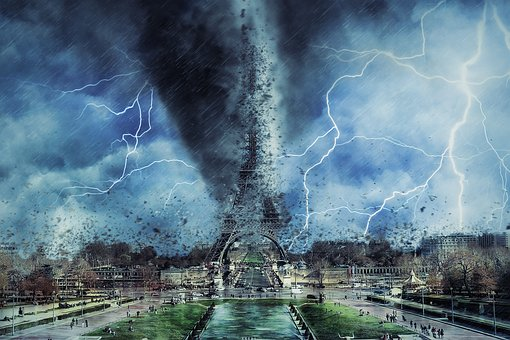 Paris, Eiffel Tower, Storm, Weather, Disaster