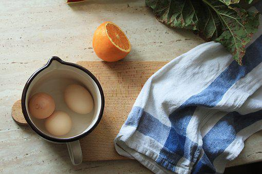 Eating, Eggs, What Boiled, Orange, Kitchen, Rubber