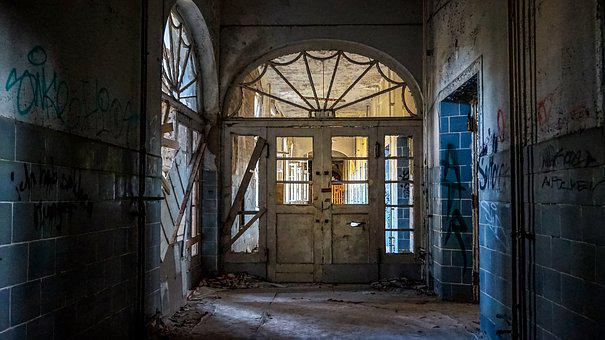 Leave, Door, Window, Home, Ruin, Break Up, Old Window
