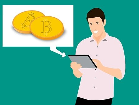 Bitcoin, Blockchain, Financial, Tablet, Young, Full