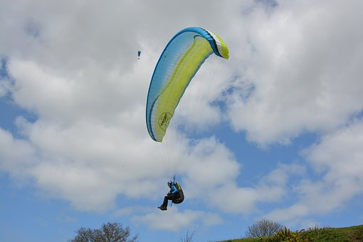 Paragliding, Paraglider, Sky, Outdoor, Air