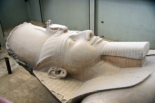 Egypt, Memphis, Pharaoh, Ramses 2, Statue, Antique