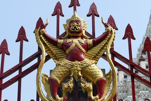 Wat Arun, Bangkok, Thailand, Golden Sky, Temple