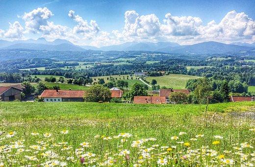 Nature, Landscape, Field, Sky, Panorama, Cloud