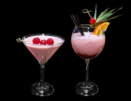 Cocktail, Drink, Glass, Juice, Cold, Icy, Refreshment