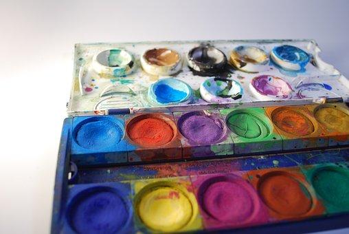 Color, Background, Brush, Color Palette, Set, Violet