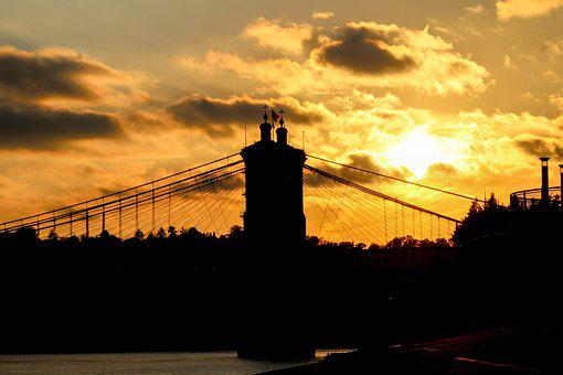 Sunset, Silhouette, Dawn, Dusk, Evening