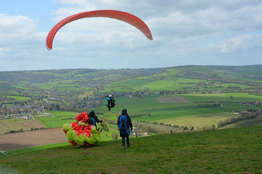 Paragliding, Paragliders, Free Flight, Inflated Kite