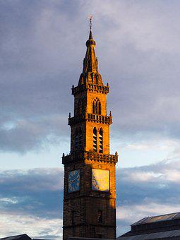 Architecture, Tower, Sky, Travel, City, Glasgow