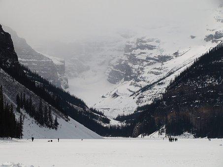 Snow, Winter, Mountain, Cold, Ice, Scene, Skating