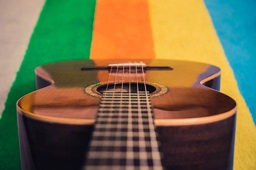 Wood, Indoors, Instrument, Classic, Guitar, Colors