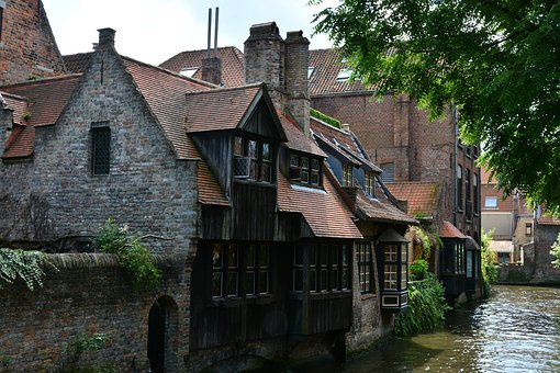 Architecture, Old, House, Street, Building, River, City