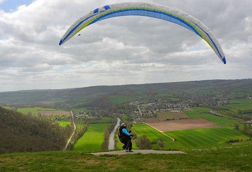 Paragliding, Departure Flight, Panoramic Views
