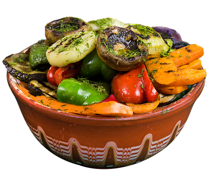Grilled Vegetables, Food, Restaurant, Plate