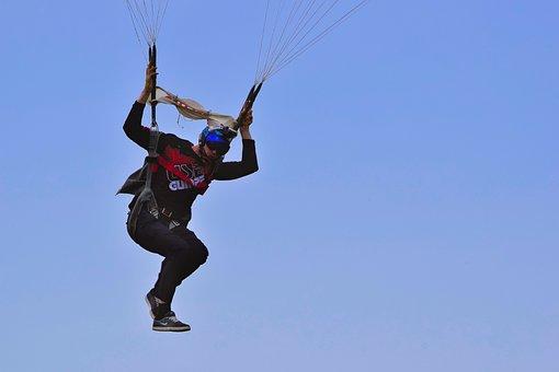 Parachutist, Sky, Fly, Skill, Pleasure, Action, Sport
