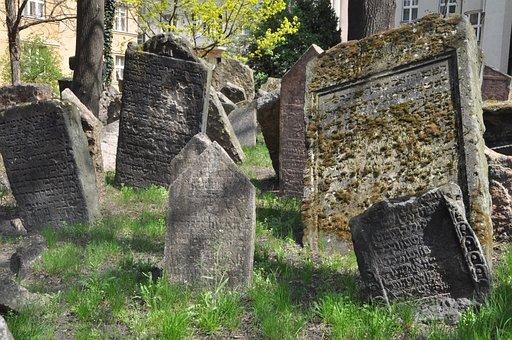Jewish Cemetery, Prague, Old, Stone, Antiquity, Nature