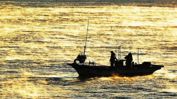 Sea, Fisherman, Gangneung, Sacheon Beach, Sun Mu