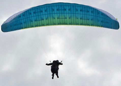 Paragliding, Paraglider, Wing Blue, Sailing Blue
