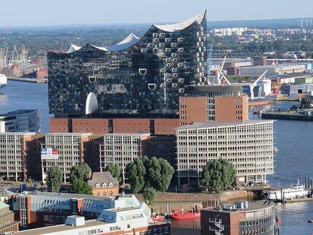 Hamburg, Waters, Sea, Ship, Travel