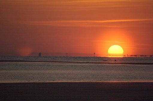 Sunset, Sun, Dawn, Water, Dusk, Sea, Evening, Nature