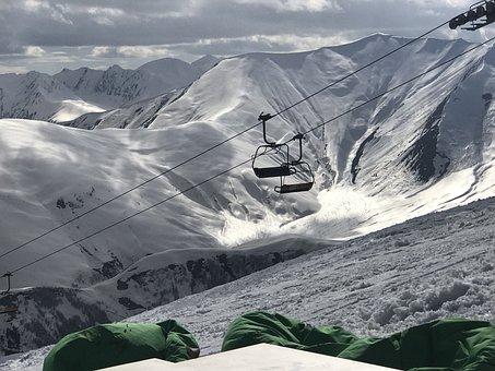 Snow, Mountain, Winter, Ice, Nature