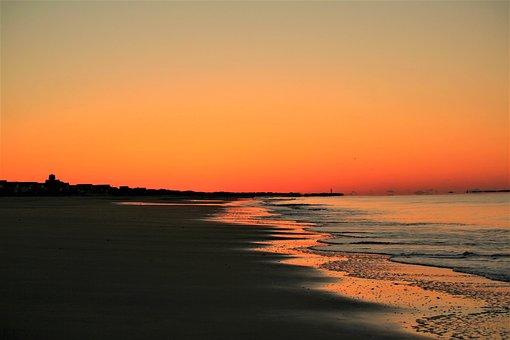 Sunset, Dawn, Water, Dusk, Sun, Evening, Nature, Sea
